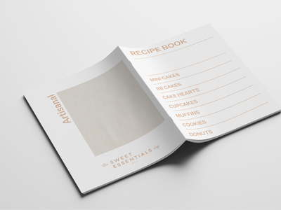 The Sweet Essentials Shop photoshop art direction design bake shop bakery uiux graphicdesign brand design brand minimal editorial design recipe book