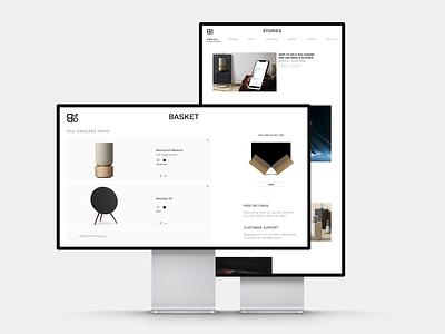 Bang & Olufsen art direction photoshop graphic design design typography brand identity adobe xd brand design ui design web design ux ui uiux