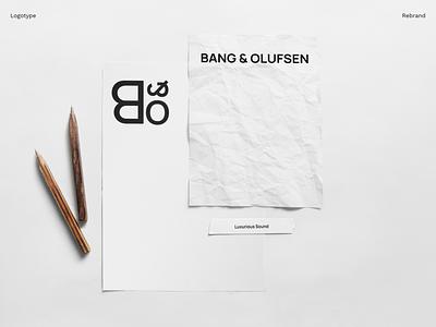 Bang & Olufsen ui uiux typography design logo branding brand identity graphic design photoshop brand design