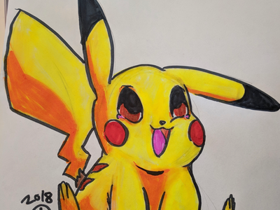 Pila pika happy cute cute art yellow electric type pokemon cute pokemon pikachu