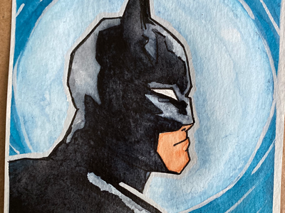 Batman mixed media fullmoon fan art dc comics super heroes batman