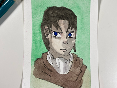 Levi Ackerman, Attack on Titan characters anime fan art attack on titan portrait