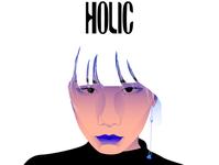 HOLIC logo design vector illustration