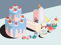 Still lives illustration digitalart still lives illustration still lives illustration food illustration digital design vector illustration