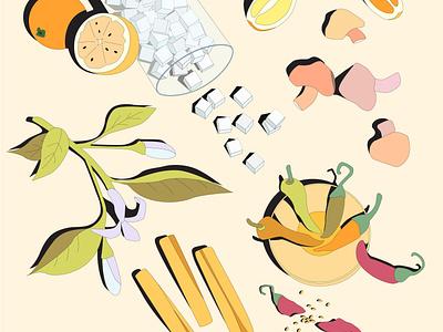 Dita's Place Illustration branding food illustration digital vector design illustration