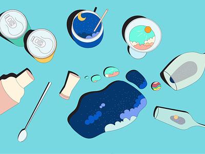 Dita's Place Illustration food illustration digital still lives illustration design vector illustration