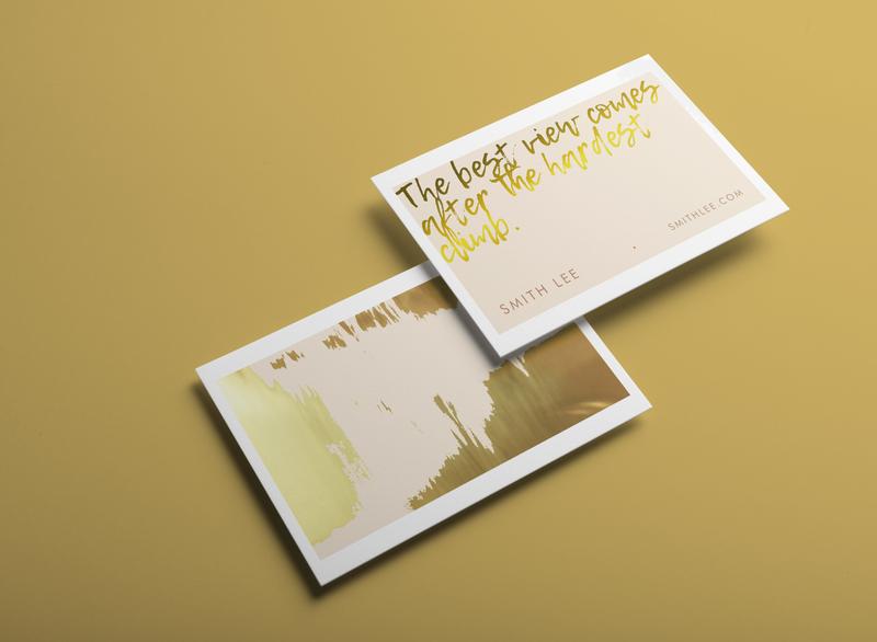 Blush Gold Business Card