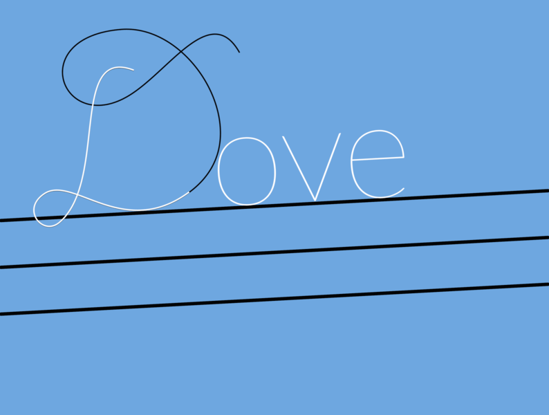 Dove is in the air? illustration typography handlettering creative design expressive typography