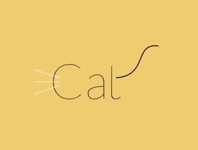 Cat - Expressive Typography typography illustration expressive typography