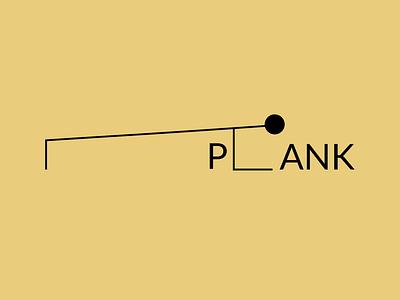 Plank exercise plank logo branding graphic design design creative design expressive typography typography illustration