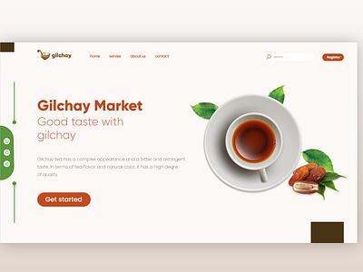 landingpage landingpage minimal design webdesign tea ux ui