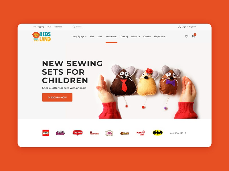 Toy Shop Home Page kids ecommerce home screen homepage shop website toy web toy shop first screen web design webdesign website web landing page design landing page landing