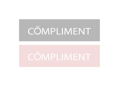 LOGO | COMPLIMENT gray compliment branding minimal jewellery female pink color logo design illustrator