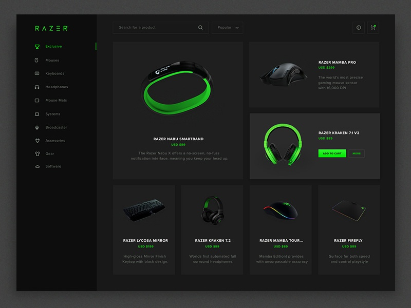Razer store redesign
