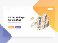 Gladage Landing Page Header