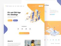 GladAge Landing Page