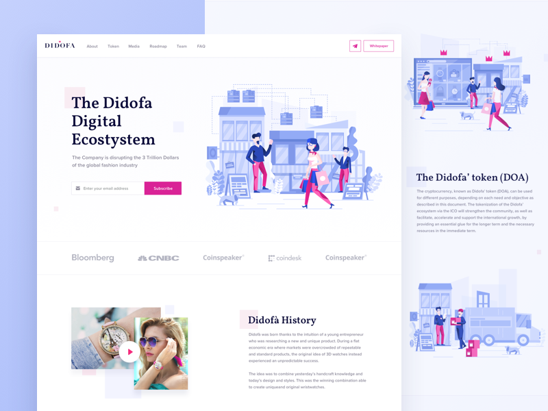 Didofa website dribbble
