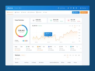 Alluma exchange dashboard