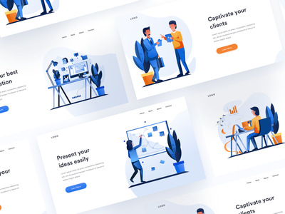 Light Header Examples work office environment website web header examples visual identity user interface ui user experience minimal clean design illustration pack grey creative pattern flat gradient icon design exploration character design bright color combinations