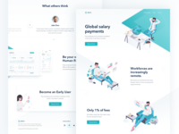 8Pay Global Salary Page crypto payments 8pay landing page website design user interface experience uiux digital payment platform application dashboard showcase roadmap chart team section clean isometric illustration white green color blockchain protocol integration digital currencies transactions