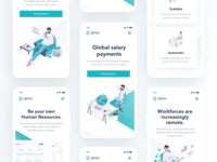 8PAY Landing Page Mobile digital currencies transactions blockchain protocol integration white green color clean isometric illustration roadmap chart team section application dashboard showcase digital payment platform uiux user interface experience website design 8pay landing responsive mobile