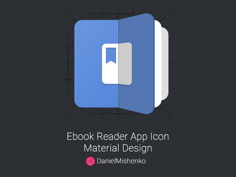Ebook Reader App Icon By Daniel Mishenko On Dribbble
