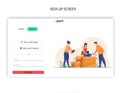 SIGN UP PAGE uidesigner challenge uidesign uiux art website minimal web app ux ui design