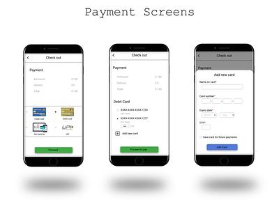 Payment Screens app design web uiux uidesigner uidesign ui minimal design challenge app