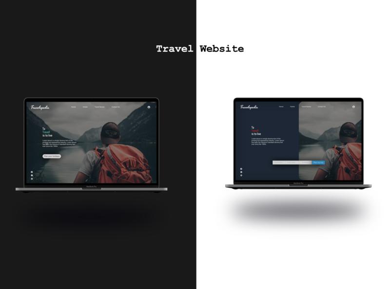 Landing page of travel website ui design ui  ux challenge website art web uiux uidesigner uidesign ui minimal design
