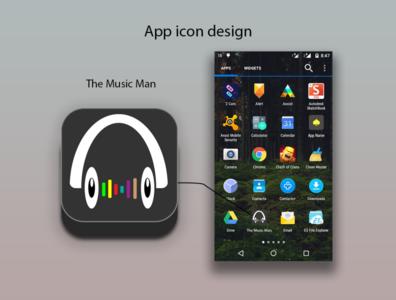 App Icon Design-The Music Man illustration appdesign app design web app uiux uidesigner uidesign ui design