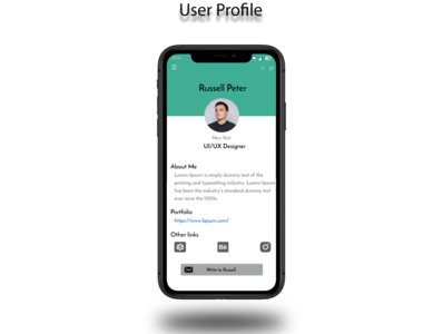 User Profile App Design user profile user minimal app design app uiux uidesigner uidesign ui design