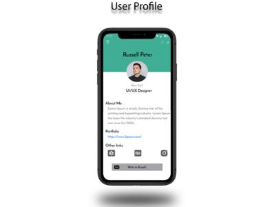 User Profile App Design user profile user minimal app design app uiux uidesigner uidesign ui design