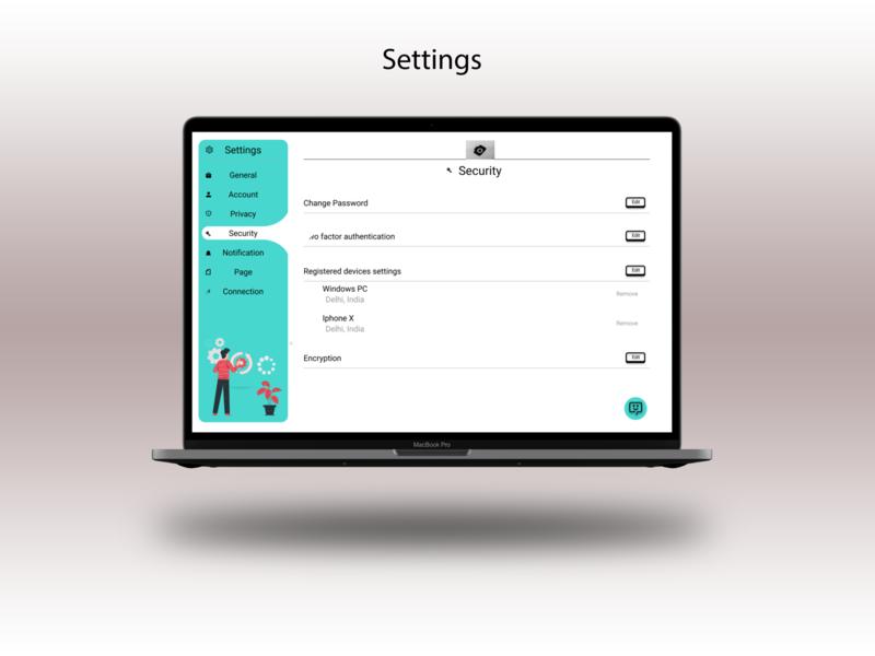 Settings screen UI- web design challenge settings ui settings minimal uiux uidesigner uidesign ui design