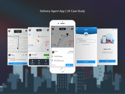 The Delivery Agents delivery uidesign ui casestudy uiux uxdesign ux