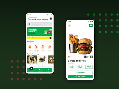 Food App Design ios app food app ios food ux ui app design design uiux uidesign