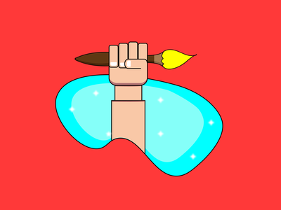 The hands with power design art icon design icons brush hands illustration design illustration