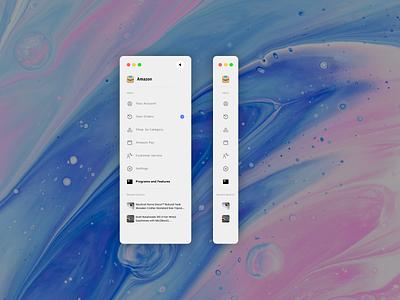 Amazon Sidebar shot concept amazon menu sidebar uidesign ui