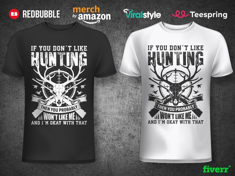 Hunting T-shirt Design mens hunting tees design hiking adventure t shirt t shirt art typography merch merchandise deer skull rifles grungy antlers deer deer hunting hunter t shirt designer t shirt design t shirt hunting t-shirt hunting