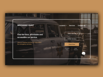 Mechanic Hunt uiuxdesigner uxdesigner uxdesign landingpage webdesigner webdesign service mechanic carmechanic car designer design userinterface userexperience uiux ux ui