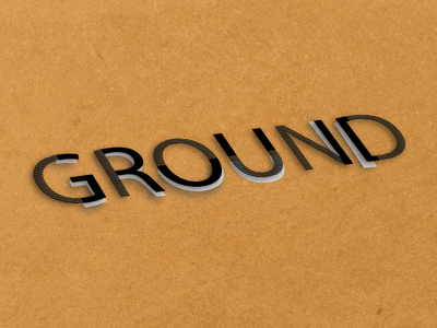 GROUND fall floor background texture dashboad lines double reflection 3d ground typogaphy vector light text design logo illustraion