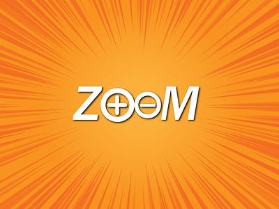 ZOOM TEXT design text vector illustraion branding logo