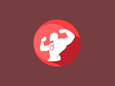 App icon gym fitness