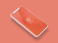 Adobe XD Playoff Splash Screen Orange