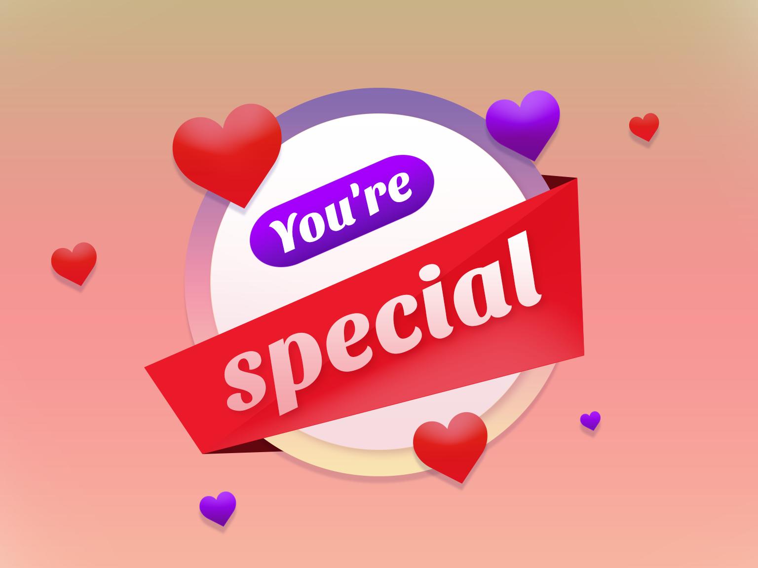 you are special special valentine grapgic design graphic design vector illustration