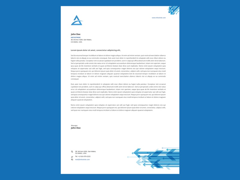 Letterhead design vector illustration busines card template business brochure letterhead