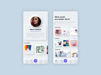 Neumorphism Soft UI Design