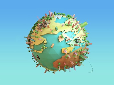 3D Earth - Very Up 3D World Project by Arthur CHAUFFAILLE - Dribbble