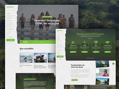 Greenpeace - Website redesign website web ux ui sidebar redesign navigation interface clean greenpeace green design