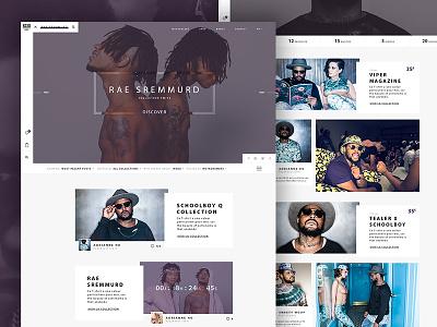 XOXO - Mode Website Concept 2 border grid art webdesign mode digital website design interface rap ux ui