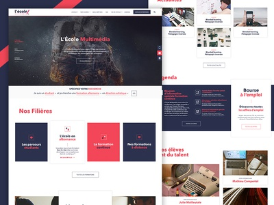 L'École Multimedia - Website brand website web school layout interaction identity french digital design art
